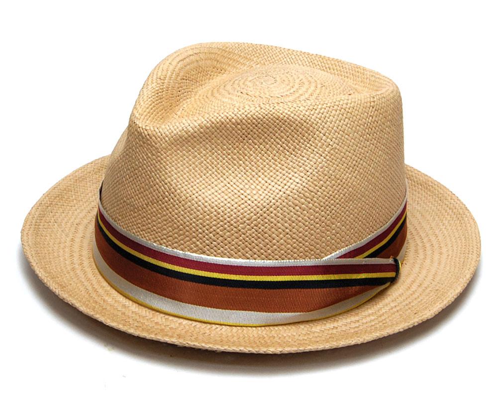 ストロー中折帽