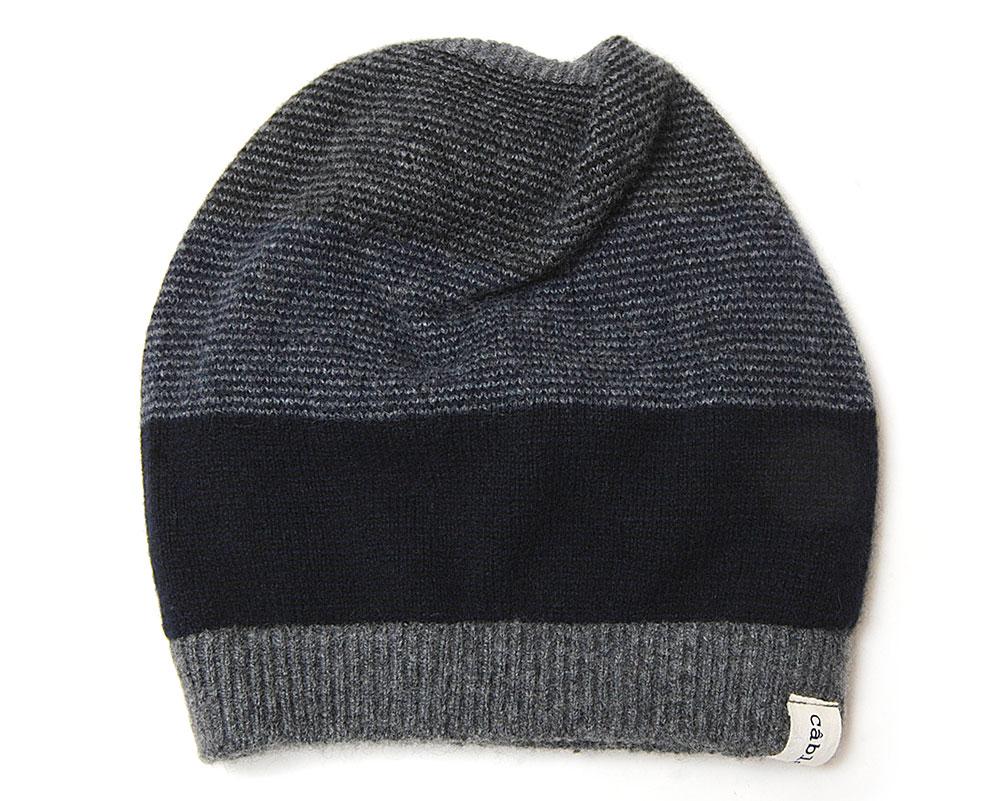 Cableamiカシミアニット帽