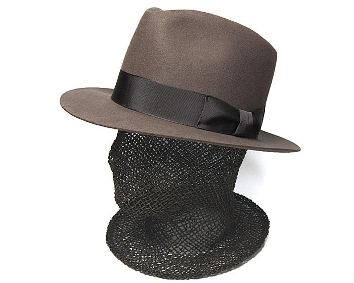 DRAGON HATラビットファーフエルト中折れ帽